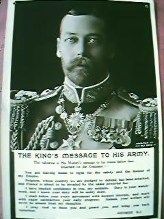 """WW1 King George """"Message to the Armies"""" Postcard"""