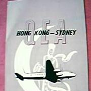 QEA Airlines Advertising Brochure 1951