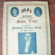 State Visit to England of President Vincent Auriol 1950
