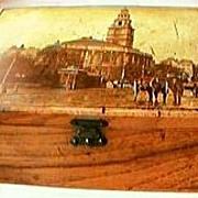 Antique Victorian Mauchline Ware Trinket Box