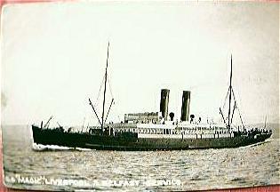 Vintage British Shipping Line Postcard S.S. MAGIC