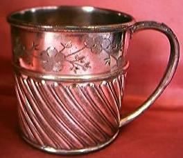 Antique Reed & Barton USA  Plated Christening Mug