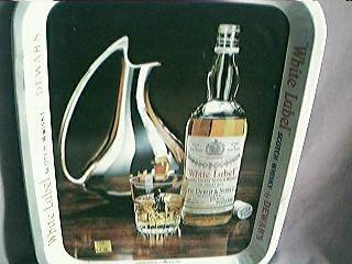 Dewars White Label Whisky Advertising Drinks Tray