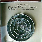 "1950's ""Pigs In Clover"" Mini Pinball Game"