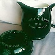 Queen Anne Whisky Jug & Ashtray