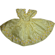SOLD Original Cosmopolitan Miss Ginger Sunny Yellow Taffeta Dress - Red Tag Sale Item
