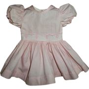 Vintage Mint Pink With Eyelet Terri Lee Dress