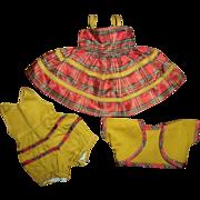 SOLD Vintage Factory Three Piece Plaid Taffeta Dress For HP Girls