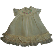 Older Very Vintage Tagged Horsman Doll Dress