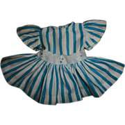 Vintage Tagged Tiny Terri Lee Striped Eyelet Trimmed Dress