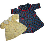 Vintage 1930s Shirley Temple Dress & Robe Mommy Made From 1930s Pattern