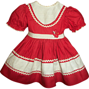 Vintage Ideal Red and Cream P-92~Toni Dress  HTF!