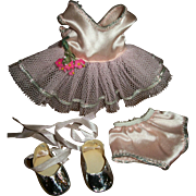 Pristine! Mint! Nancy Ann Debbie Ballerina Tutu With Silver Slippers