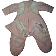 "Factory Effanbee 20"" Dy-Dee Footed Snowsuit With White Mohair Fur Trim and Matching Hat"