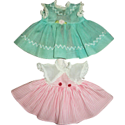 Two Vintage Original R&B, Arranbee Sweet Pea Doll Dresses