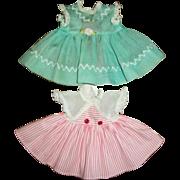 Two Vintage Original R&B, Arranbee Sweet Pea Doll Dresses
