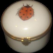 SALE Limoges Porcelain Lady Bug Trinket Box