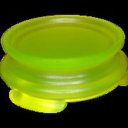 SALE Tiffin Vaseline Satin Glass Base