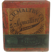 Vintage Signature Cigar Box Maltby Co. Corning, NY