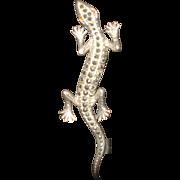 SALE Sterling Silver Marcasite Salamander Pin