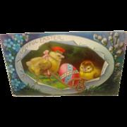 SOLD Vintage Easter Postcard  with Chicks - Sale Pending