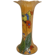 SALE Noritake Luster Butterfly Vase