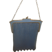 SALE Vintage Blue Mesh Purse Whiting Davis