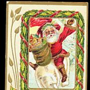 1908 Santa Claus Jumping for Joy Postcard