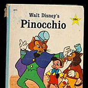 "Walt Disney's ""Pinocchio"" 1967 Big Little Book"
