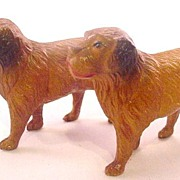 2 ca 1920s Viscaloid/Celluloid Dogs