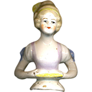 "1920s Bisque/Porcelain 2 1/2"" Half Doll"