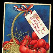 Ellen Clapsaddle George Washington Cherries 1907 Postcard