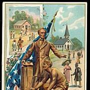 Abe Lincoln Patriotic Tucks 1913 Postcard