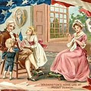 Tucks George Washington's Birthday 1907 Postcard