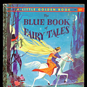 """""""Blue Book of Fairy Tales"""" A Edition Little Golden Book"""