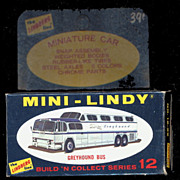 1968 Mini-Lindy Lindberg Greyhound Bus Model Kit