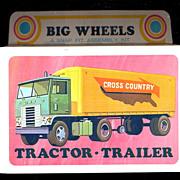 1971 Big Wheels Tractor-Trailer Mint in Box