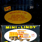 1968 Mini-Lindy Lindberg Dump Truck Model Kit Sealed