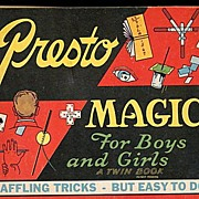 1945 Presto Magic For Boys & Girls Twin Book