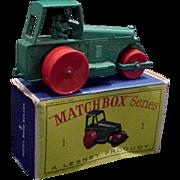 1962 Matchbox #1 Aveling Barford Roller in Box