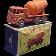 1960s Matchbox 26 Foden Cement Truck GPW in Boc