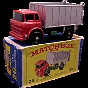 1960s Lesney Matchbox 26 GMC Tipper Truck BPW Mint Box