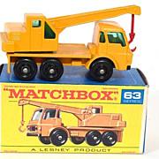 1960s Matchbox 63 Dodge Crane Truck in Box