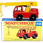 1960s Matchbox No 42 Iron Fairy Crane in Box