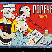 1933 Popeye Paints ats Perfik! Paints Tin Box