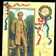 1907 Abe Lincoln Patriotic Postcard