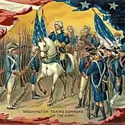 "Tucks 1909 ""Washington Taking Command Of The Army"" Postcard"