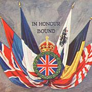 "1908 ""In Honour Bound"" Patriotic Postcard"