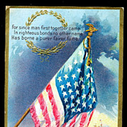 1910 Patriotic Star Spangled Banner Postcard
