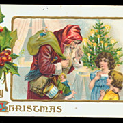 1916 Santa Claus with Children & Toys Postcard